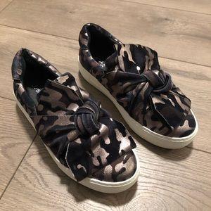 J/SLIDES Annabelle velvet camo platform sneaker